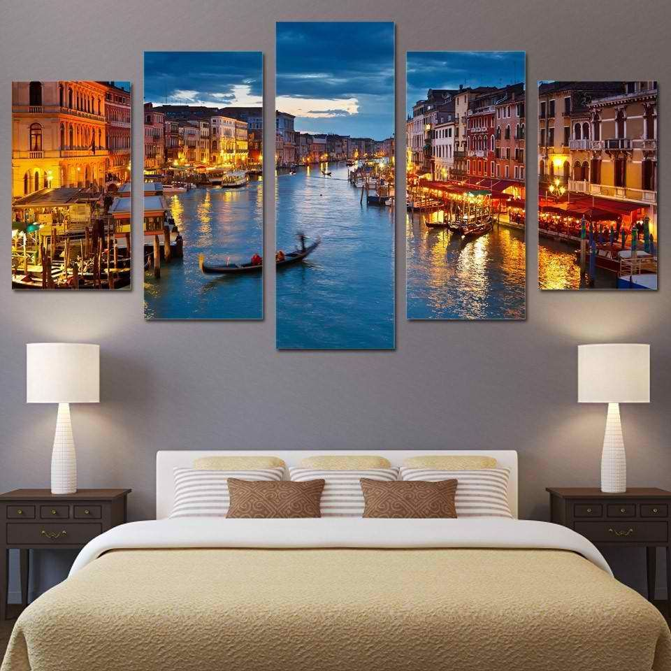 Venice Italy 5 Panel Canvas Print Wall Art Customized Canvas Art Wall Canvas Canvas Art Wall Decor