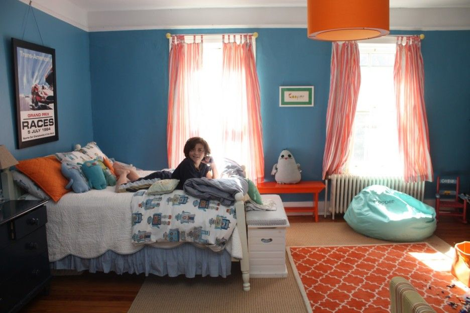 Awesome Images Of Blue And Orange Bedroom Design And ...