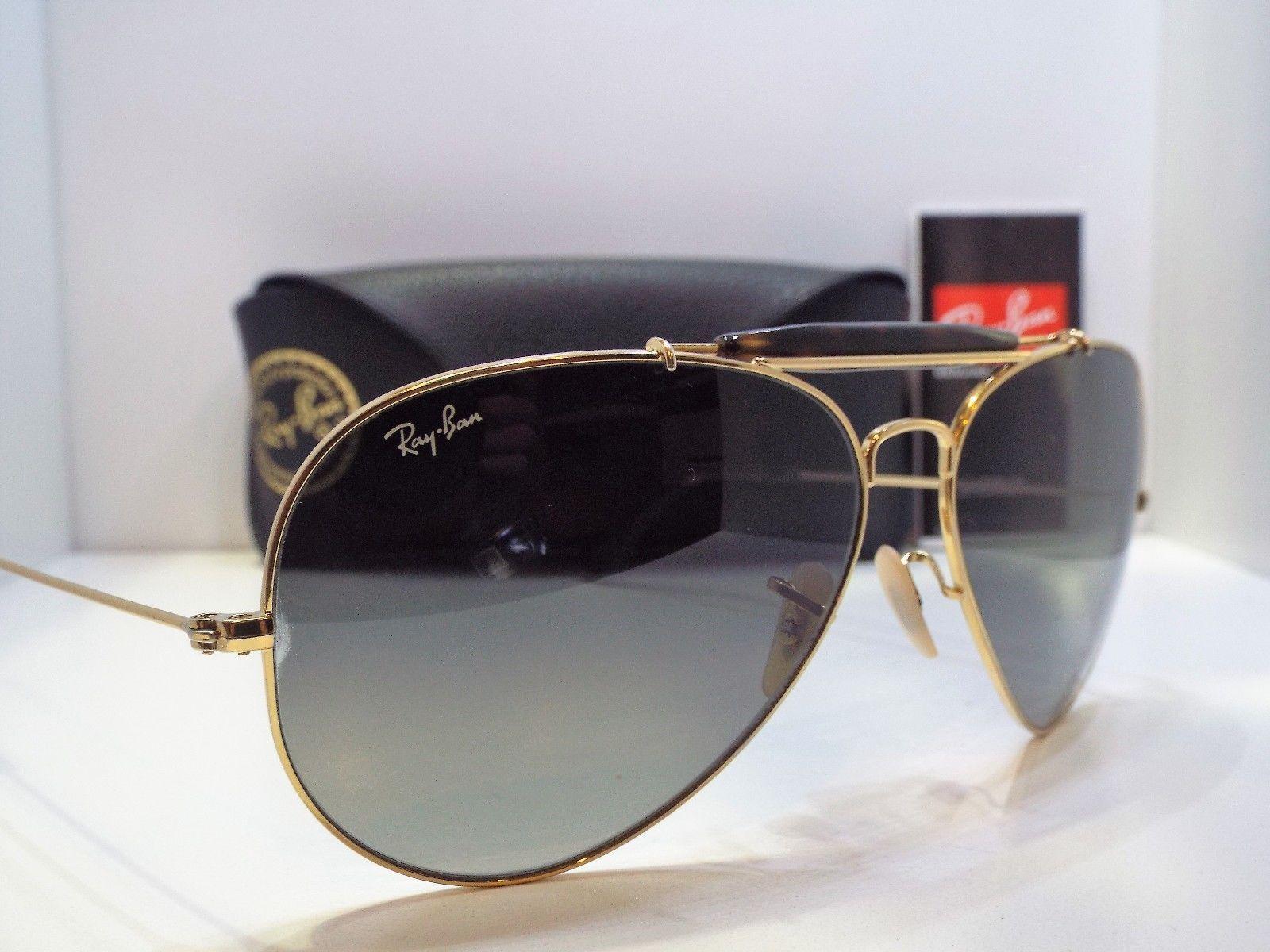 8974e7b0f Authentic Ray-Ban RB 3029 181/71 Gold Havana Grey Outdoorsman II Sunglasses  $220