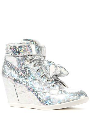 aedf965622ca Privileged The Amore Sneaker in Silver Hologram