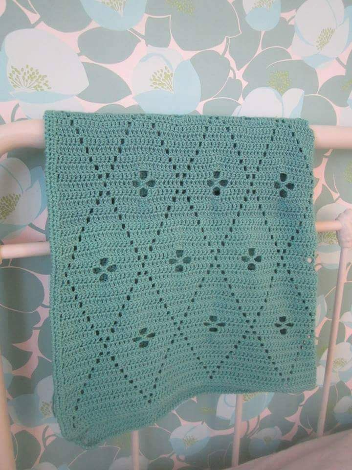 Made this blanket from two patterns. Call the midwife and a bag from ...
