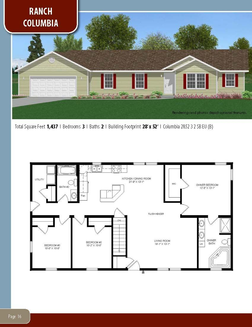 To Learn About Building Your New Home With All American Homes Visit Our Website At Www Allamericanhomes Ranch House Plans Small House Plans Modular Home Plans