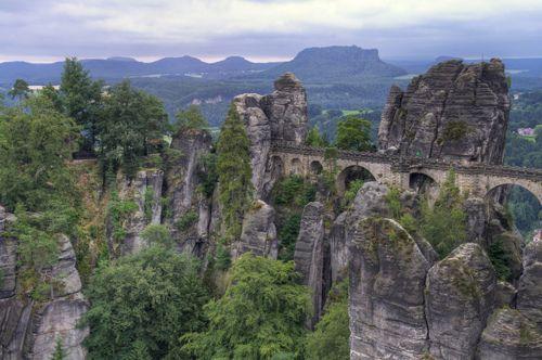 Bastel Rock Formation, Saxony, Germany