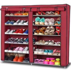 D Amp D High Quality Double Capacity 6 Layer Shoe Rack Shoe
