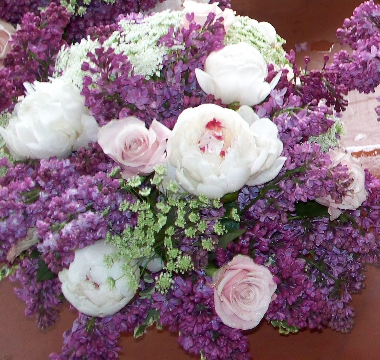 Wedding Reception Flowers Centerpieces In Purples And Pinks Of Peony Lilac And Rose Westches Purple Wedding Theme Wedding Reception Flowers Floral Wedding