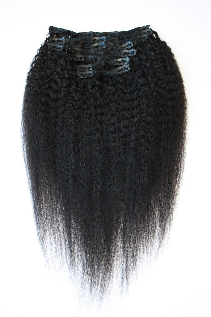 Brazilian Coarse Yaki Clip-in Hair Extensions by VIPExtensionBar on Etsy