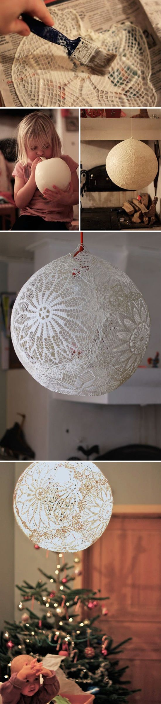 Lovely lace decor projects doily lamp craft and crafty arubaitofo Images