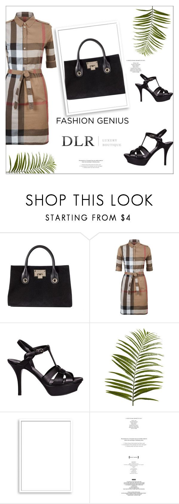 """""""Love is fun. DLR"""" by amazing-724 ❤ liked on Polyvore featuring Jimmy Choo, Burberry, Yves Saint Laurent, Pier 1 Imports and Bomedo"""