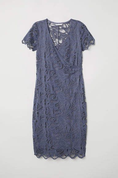 b95883de4b2 H M MAMA Lace Nursing Dress - Blue