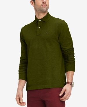 8fcf24141 Tommy Hilfiger Men's Classic Fit Long Sleeve Polo Shirt, Created for Macy's  - Green XXL