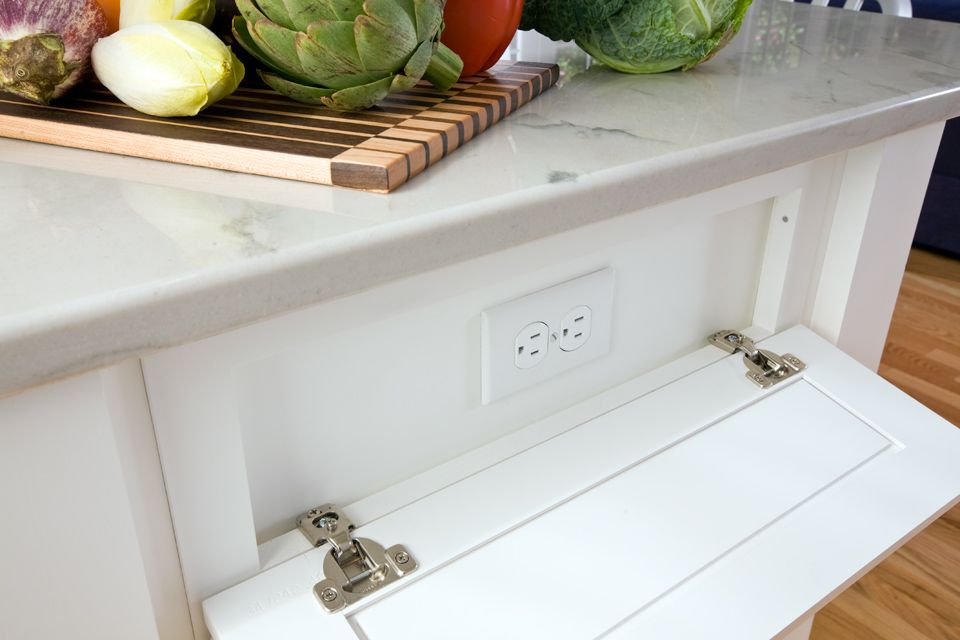Concealed Electrical Outlets In The Kitchen House Design Dream House Home Remodeling