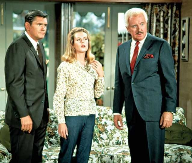 Bewitched (1964-72)  Dick York as Darrin  Elizabeth Montgomery as Samantha  David White as Larry Tate