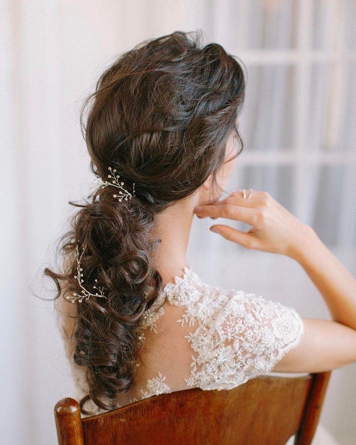 Wedding hairstyle | bohemian wedding hairstyle ideas #hairstyle #hairideas #hairdown #weddinghairideas #weddinghair #bridalhair #bohohair