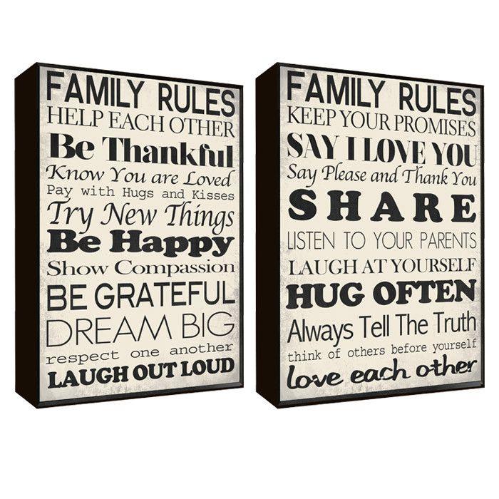 Dharma Saṁsthāpanārthāya Mard Family Rules Wall Art Sets Wall