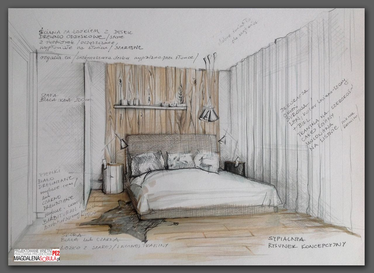 This is another example of an illustration that is - Hand drafting for interior design ...