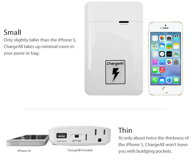 ChargeAll - Worlds Smallest Portable Power Outlet | Indiegogo