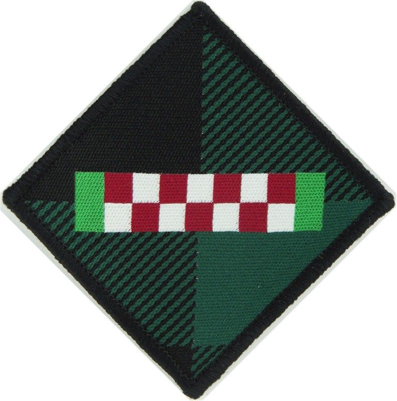 Argyll /&Sutherland Highlanders Diced Strip arm badge Iron//sew on embroidered 741
