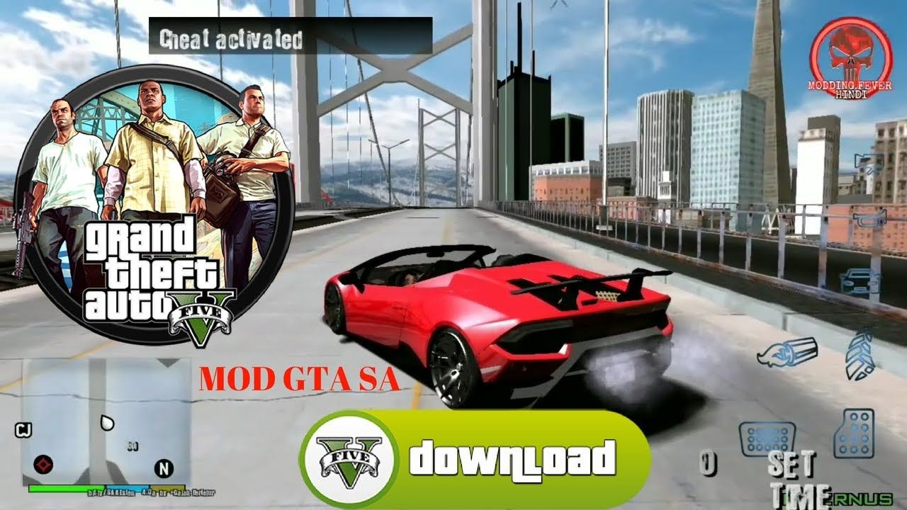 GTA 5 Mod GTA SA Offline Best Graphics Download | Mobile