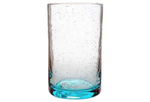 S/4 Bubble-Glass Tumblers, Aqua from One Kings Lane on shop.CatalogSpree.com, your personal digital mall.