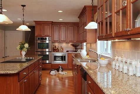 Cherry Kitchen Cabinets  Cherry Wood Kitchen Cabinets Magnificent Cherrywood Kitchen Designs Inspiration