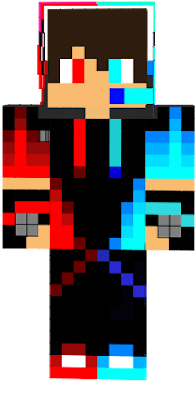 Red And Blue Boy In 2020 Red And Blue Minecraft Skins Boy Minecraft Skins Cool