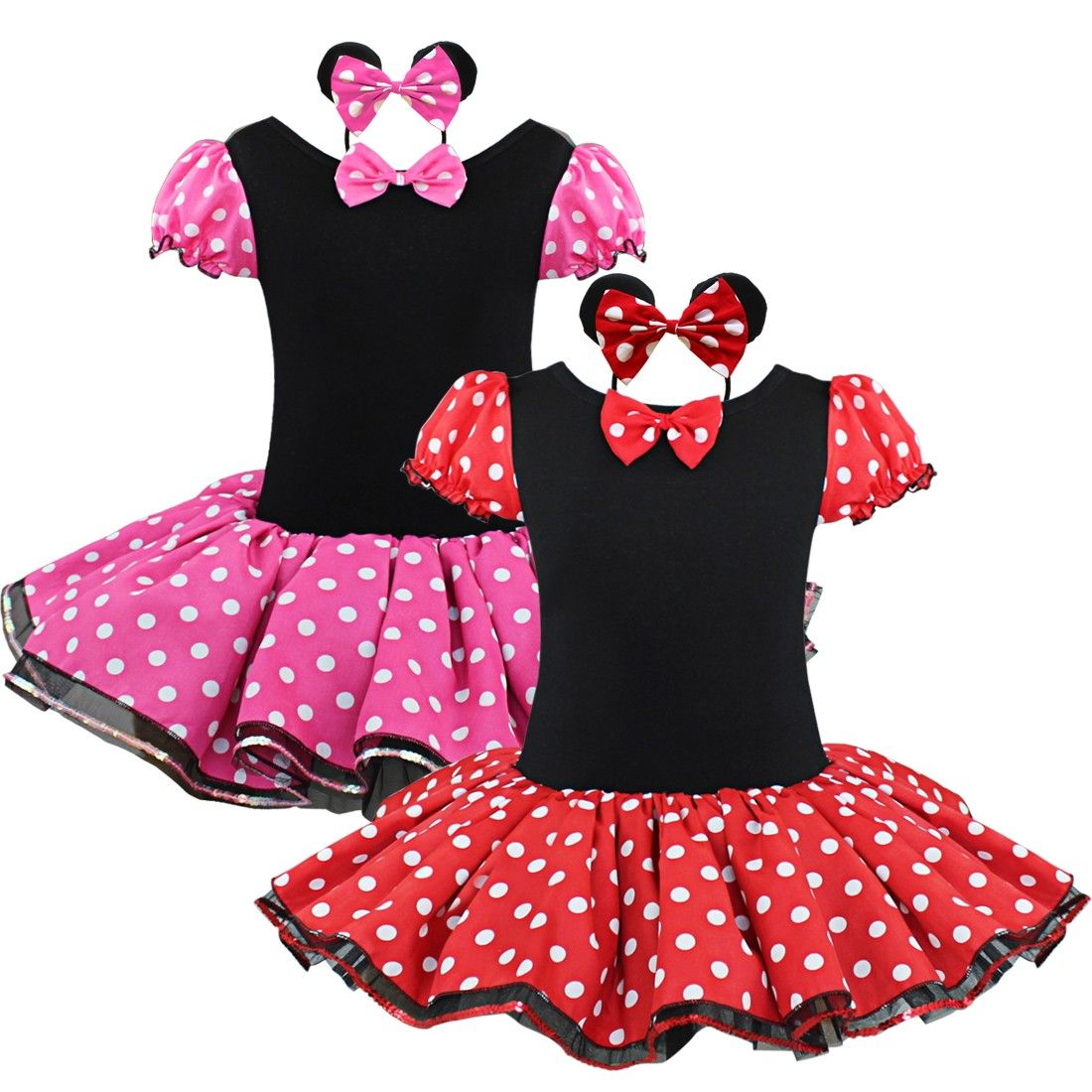 21480f4cb iEFiEL Girls Halloween Minnie Mouse Party Costume Tutu Skirt ...