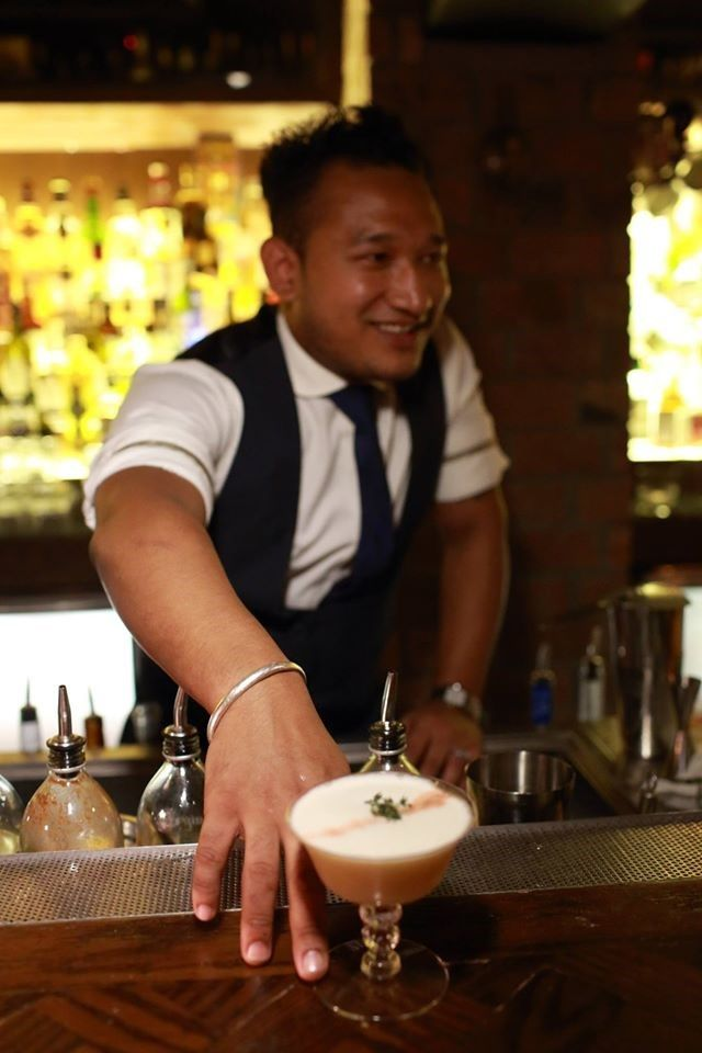 Suraj Gurung is a proud mixologist at Stockton HK, who became one - bar manager