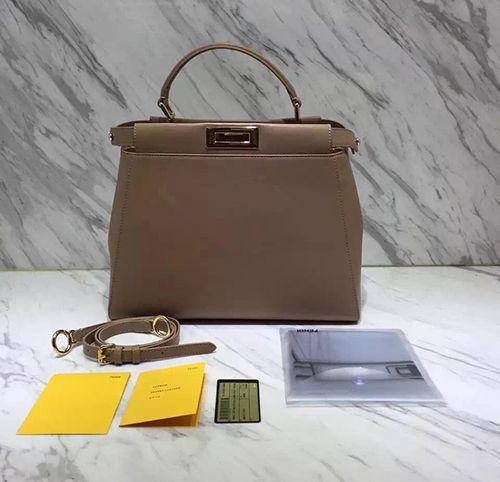 499e72c2eb51 fendi peekaboo medium beige nude replica handbag satchel