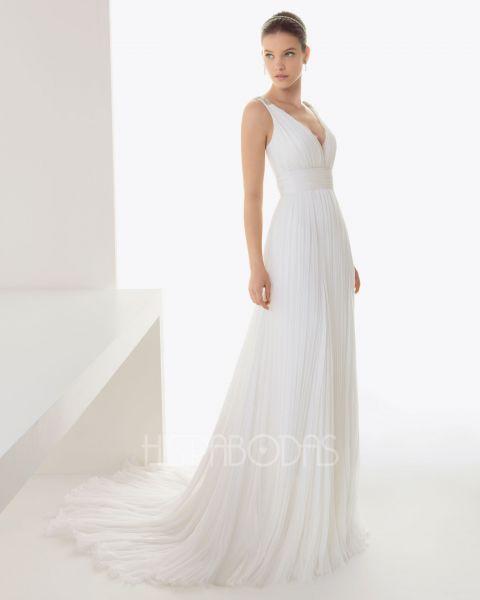 modelo baiona. catálogo vestidos de novia rosa clara 2013