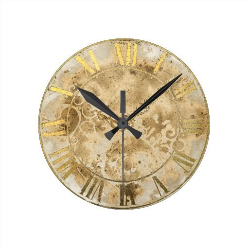 Pin Roman Numerals Clock Face Templates On   Gold Tattoo