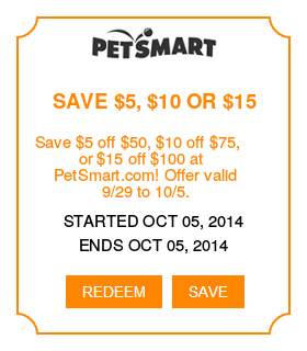 Petsmart Coupons Save 5 Off 50 10 Off 75 Or 15 Off 100