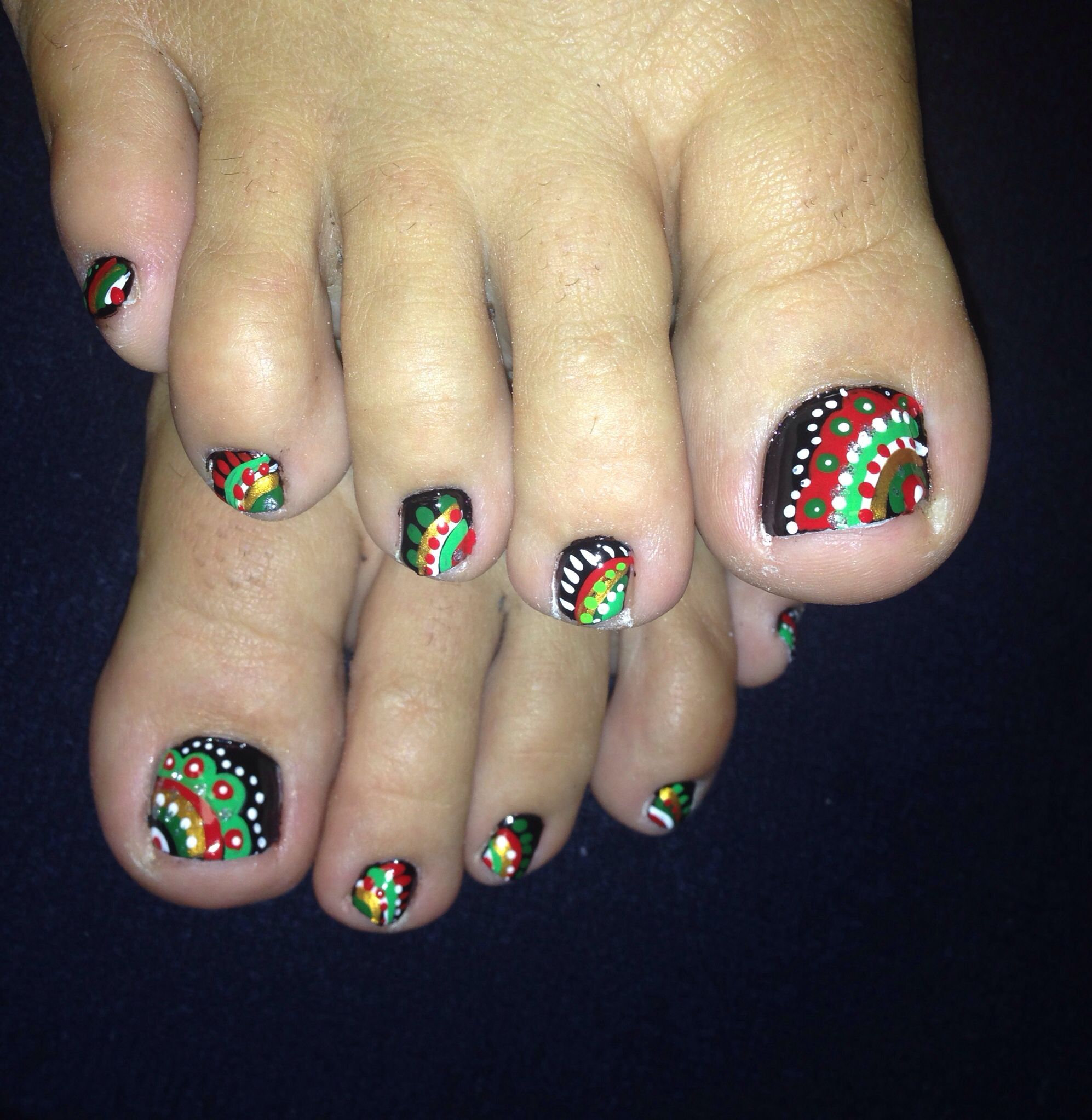 Toe Nail Art Holidays: #Christmasnailart #nailart #funkytoes