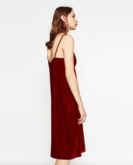 Image 3 of VELVET DRESS from Zara | Velvet dress