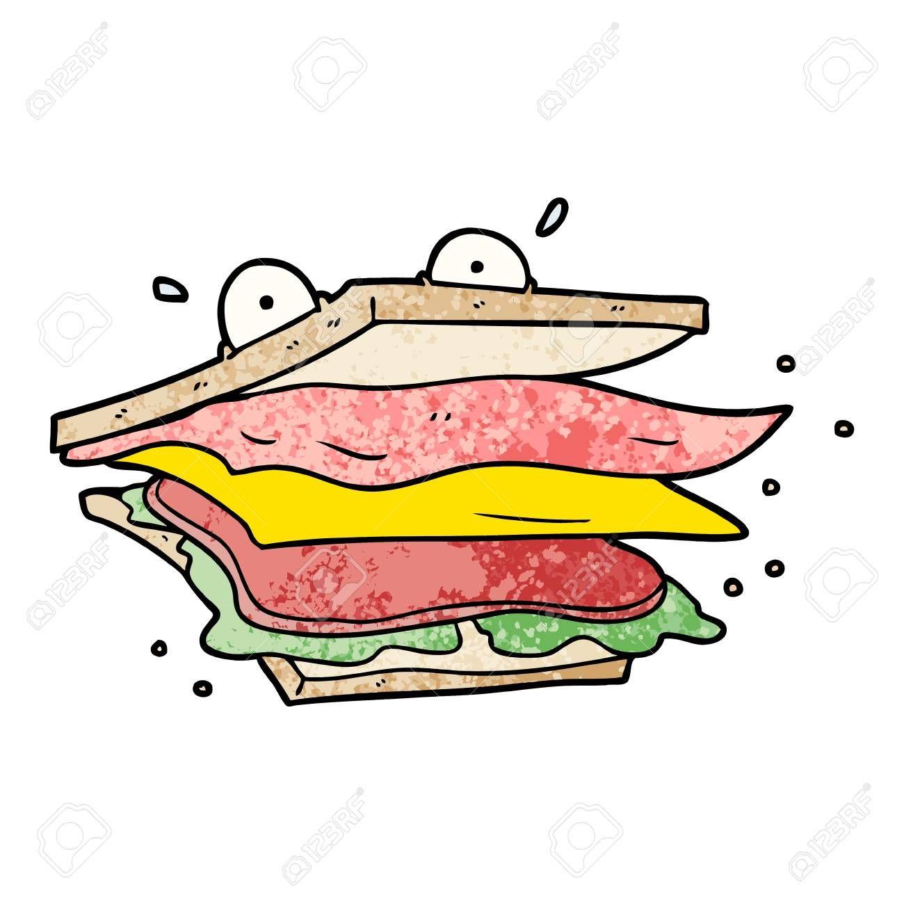 sandwich cartoon character illustration sponsored cartoon sandwich illustration character character illustration cartoon characters photos for sale pinterest