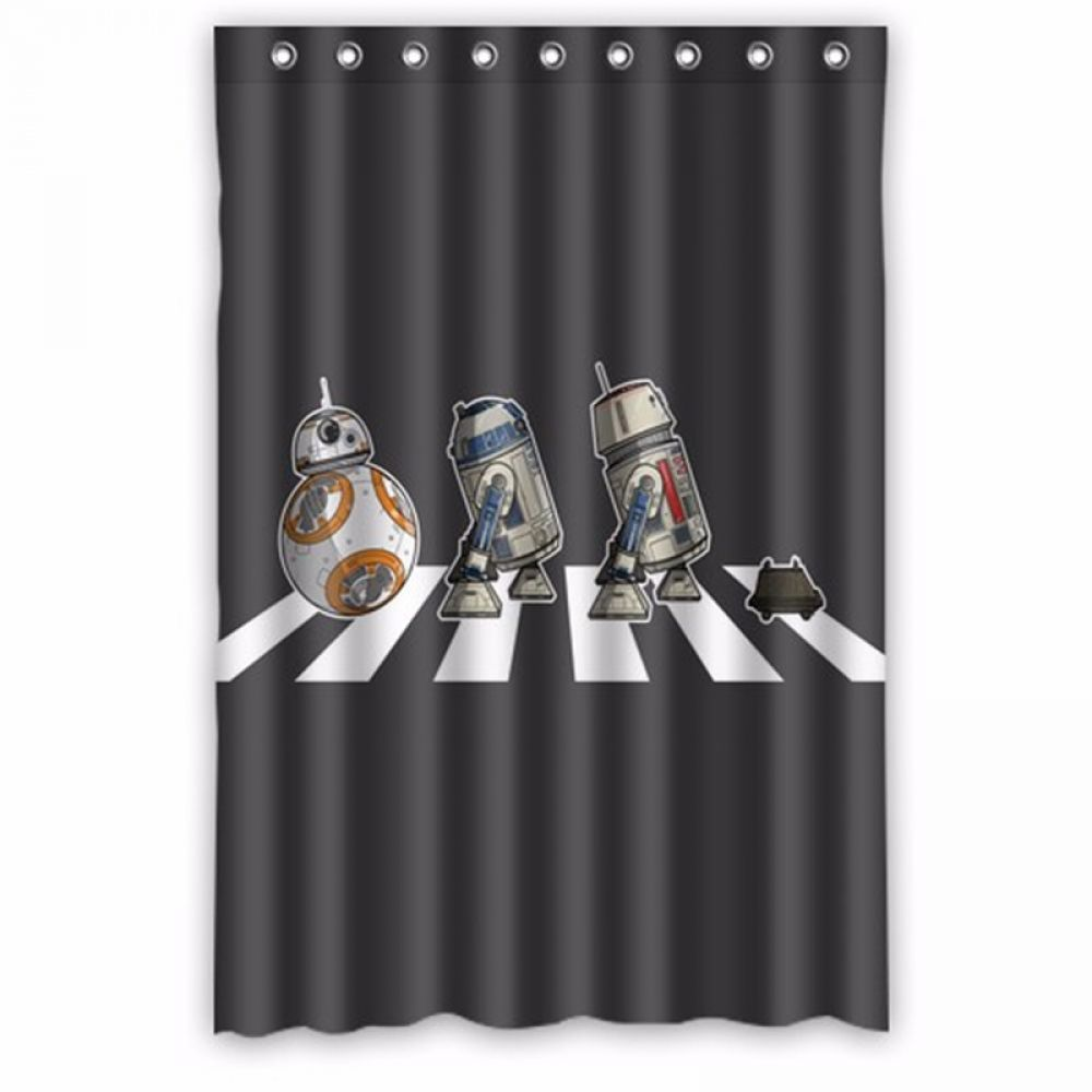 the beatles star wars shower curtain