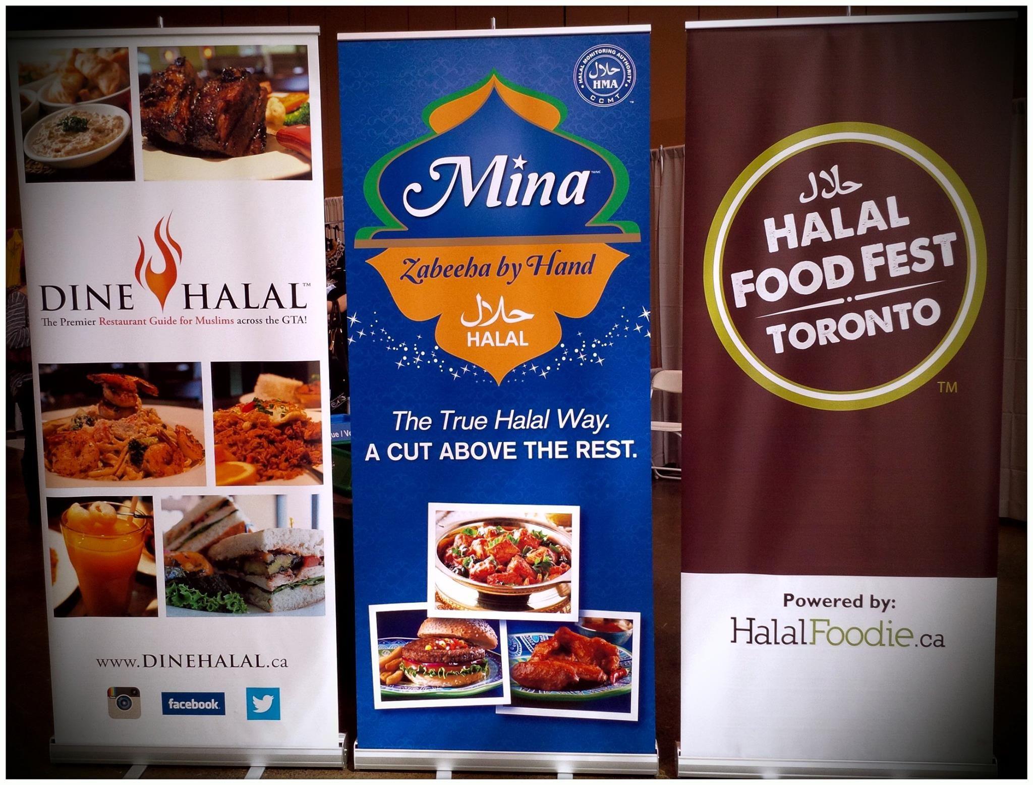 Custom Retractable Banners On Display At Halal Food Fest Toronto Halal Recipes Halal Food