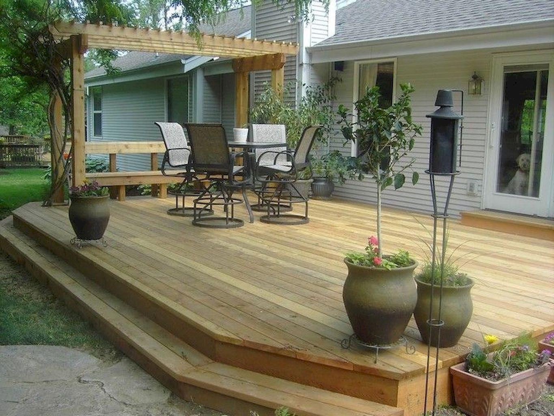Awesome Backyard Patio Deck Design And Decor Ideas 27 Backyard Patio Patio Deck Designs Decks Backyard