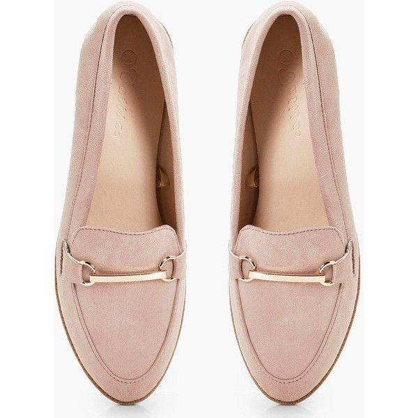 12e2a84dd8e Boohoo Anna Metal Trim Loafer ( 32) ❤ liked on Polyvore featuring shoes