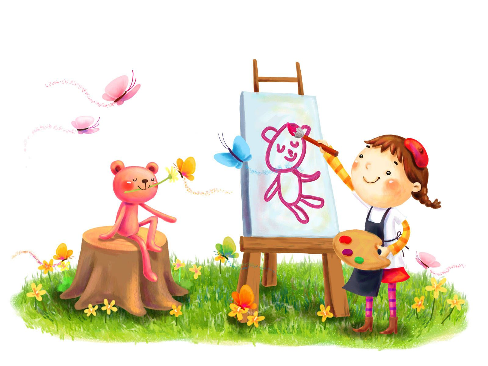 beautiful cartoon children hd image wallpaperjpg 1600 - Cartoon Children Pictures