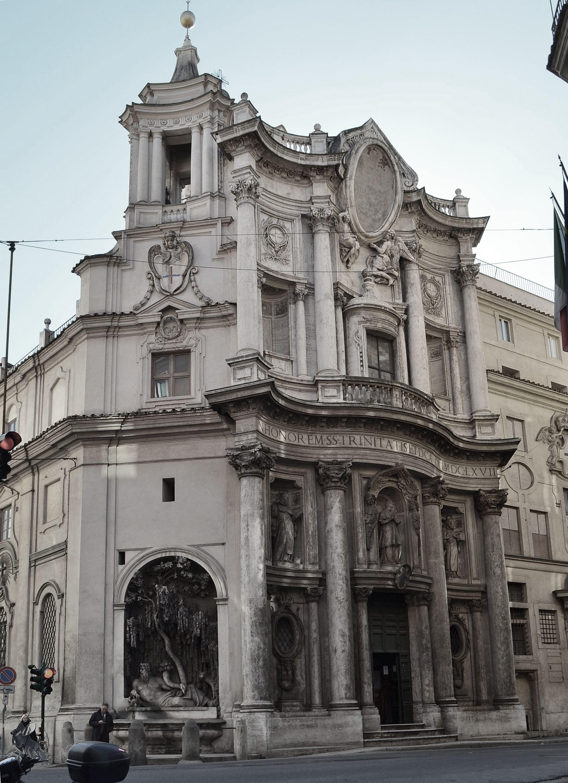 italian baroque architecture, borromini; s.carlo alle quattro