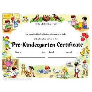 PreKindergarten Certificate Pack  Certificates And Awards
