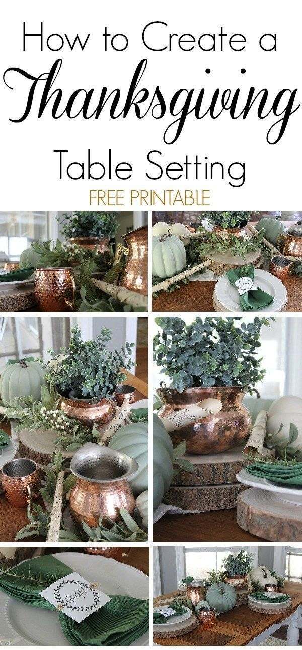 How to Create a Thanksgiving Table Setting Thanksgiving