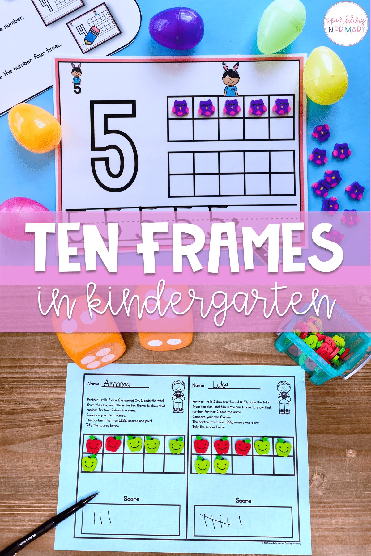 Ten Frames In Kindergarten Bp Ten Frames Activities Are A