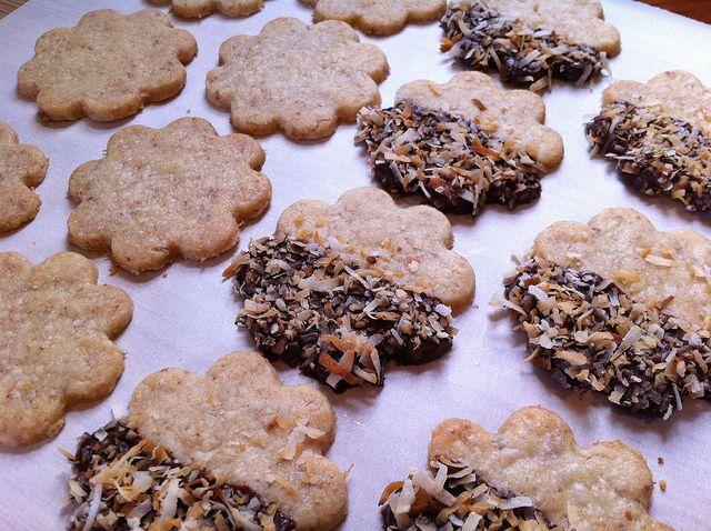 Toasted Coconut Shortbread cookies. | www.intoitblog.com
