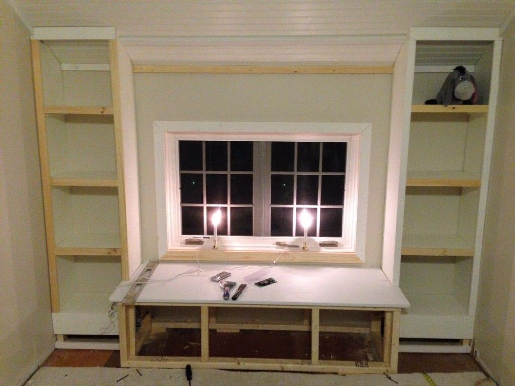 DIY: How To Build A Window Seat And Built In Bookcases - Tucker's Room