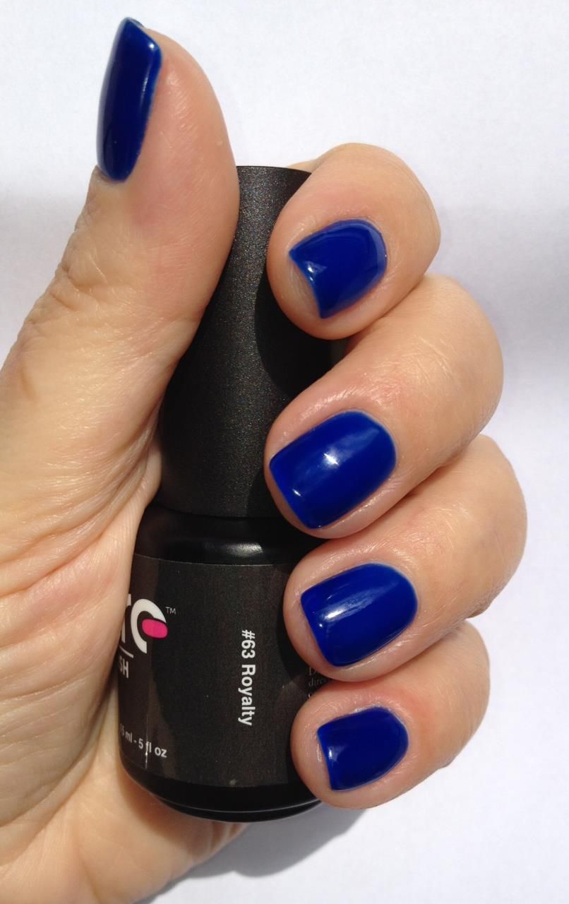 """""""Royalty"""" swatched by Ivy! """"What a beautiful bright blue jelly, bound to get you noticed!"""""""