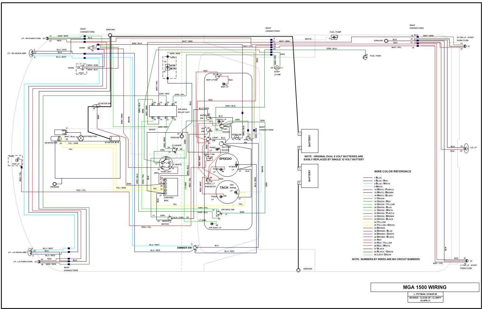 Mg Midget 1500 Wiring Diagram