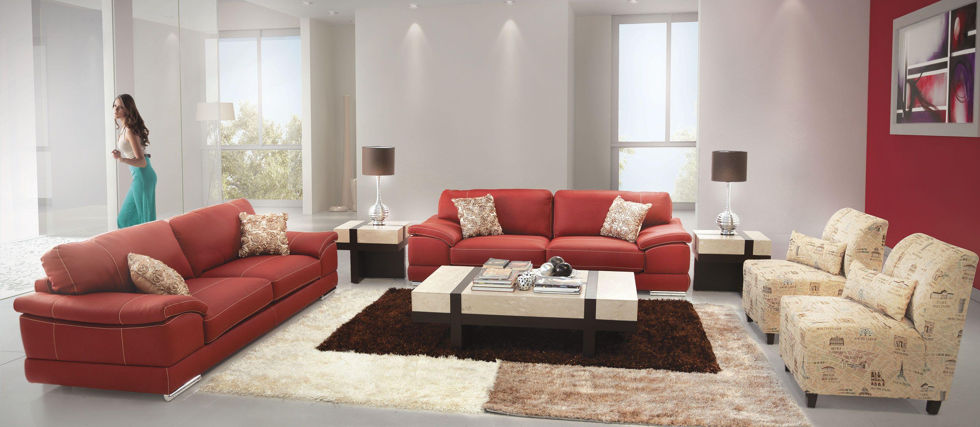 Sala calathea rosso de placencia muebles salas for Muebles y decoracion para el hogar