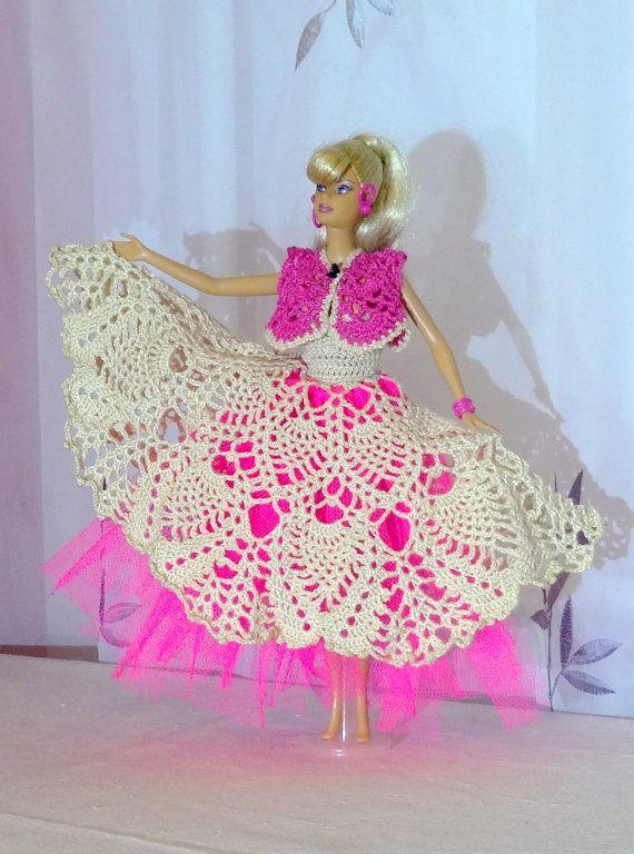 ropa de barbie tejida a crochet grafico - Szukaj w Google | Muñecss ...