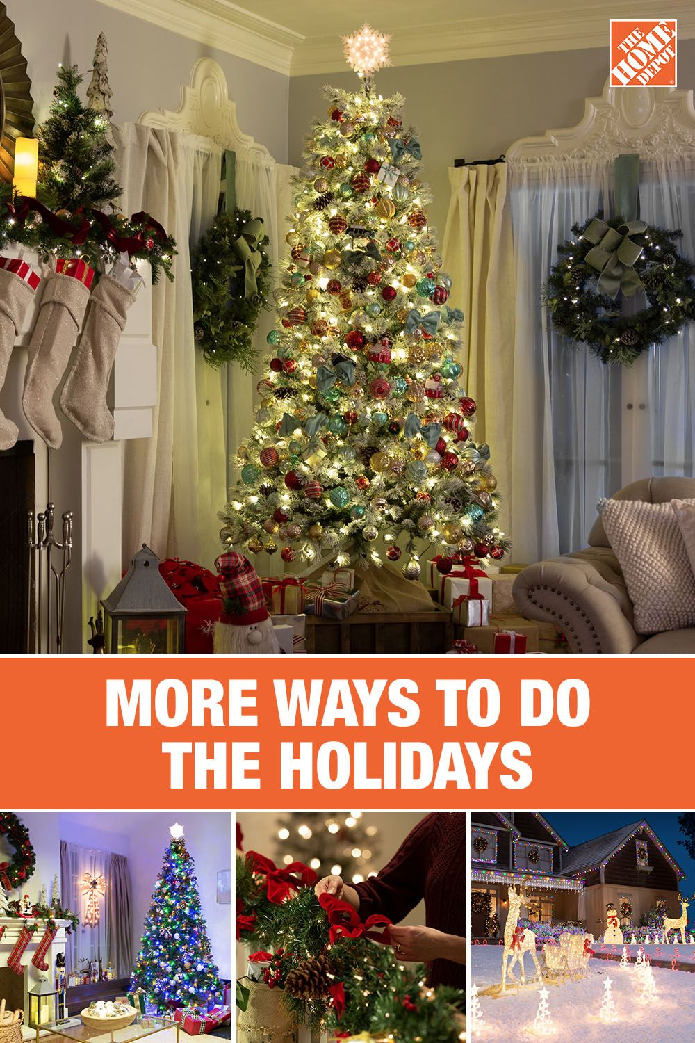 Shop More Ways To Do The Holidays At The Home Depot With A Wide Variety Of Holiday Decor All Availab Holiday Decor Christmas Holiday Decor Christmas Decor Diy